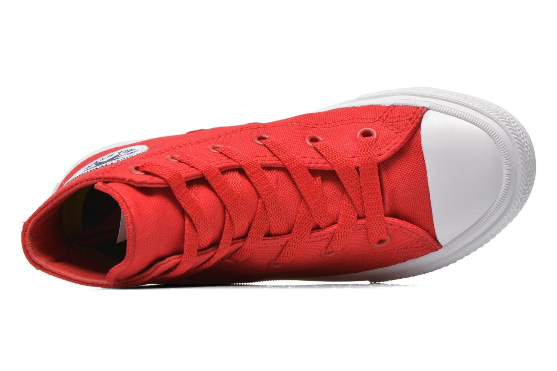 Sneakers Converse Chuck Taylor All Star II Hi Röd bild från vänster sidan