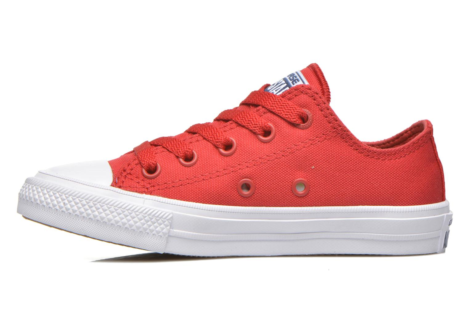 Baskets Converse Chuck Taylor All Star II Ox Rouge vue face