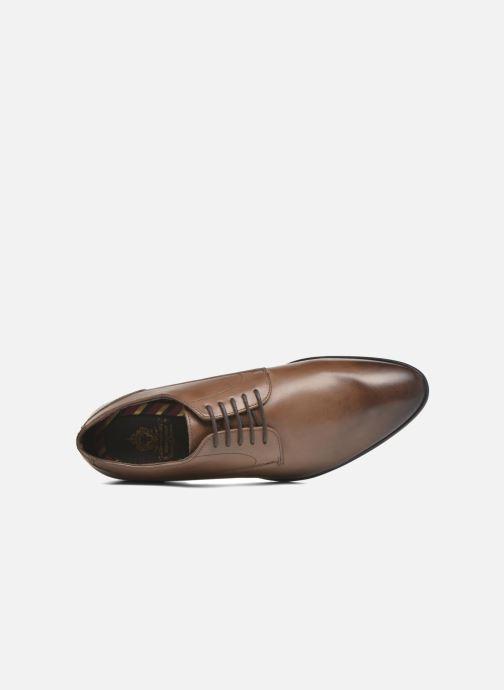 Chaussures à lacets Base London Morse Marron vue gauche