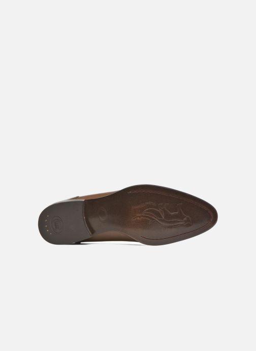Chaussures à lacets Base London Morse Marron vue haut