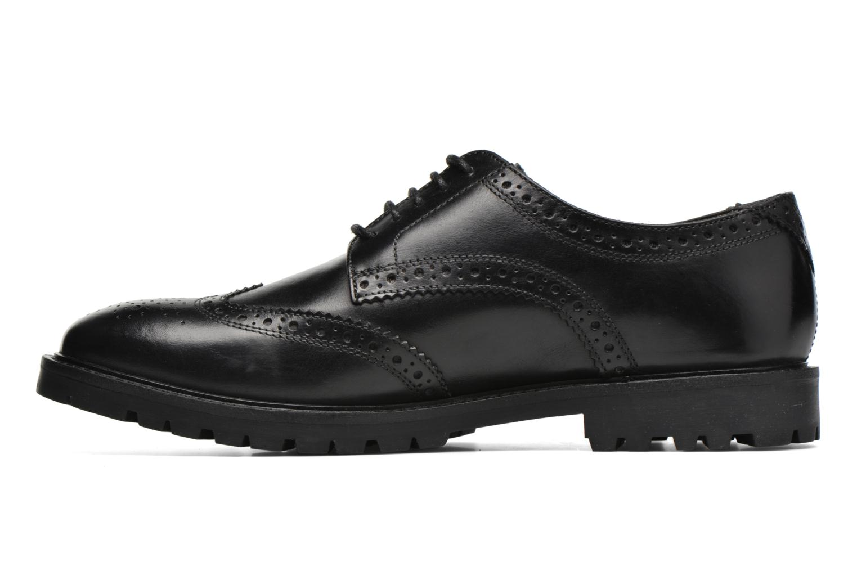 Chaussures à lacets Base London Trench Noir vue face