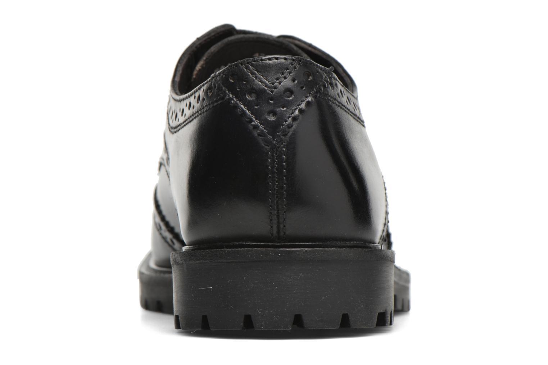Chaussures à lacets Base London Trench Noir vue droite