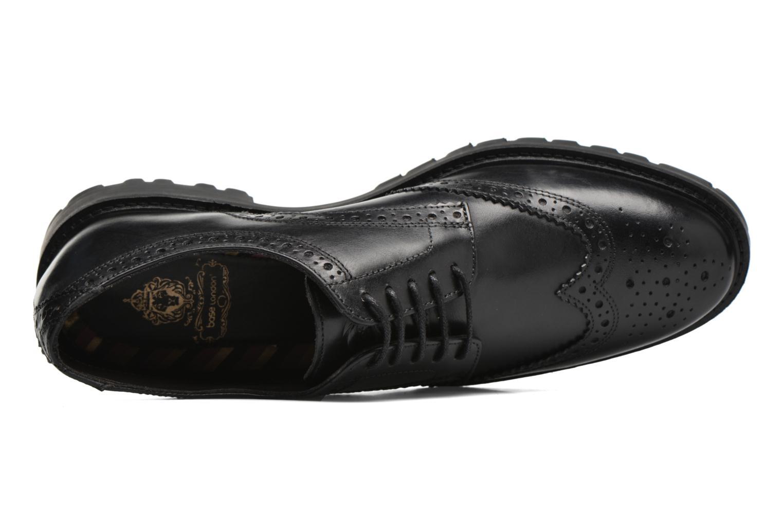 Chaussures à lacets Base London Trench Noir vue gauche