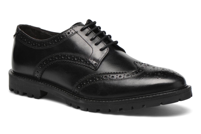Chaussures à lacets Base London Trench Noir vue détail/paire