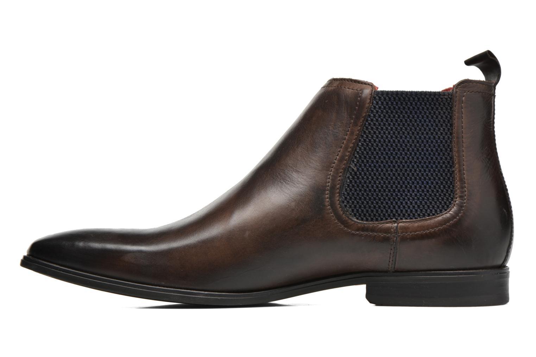 Bottines et boots Base London William Marron vue face