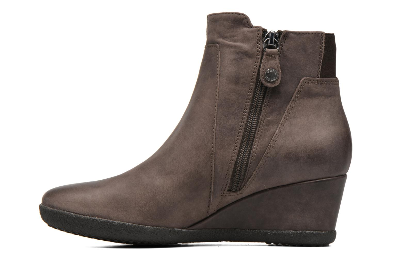 Bottines et boots Geox D AMELIA ST B D6479B Marron vue face
