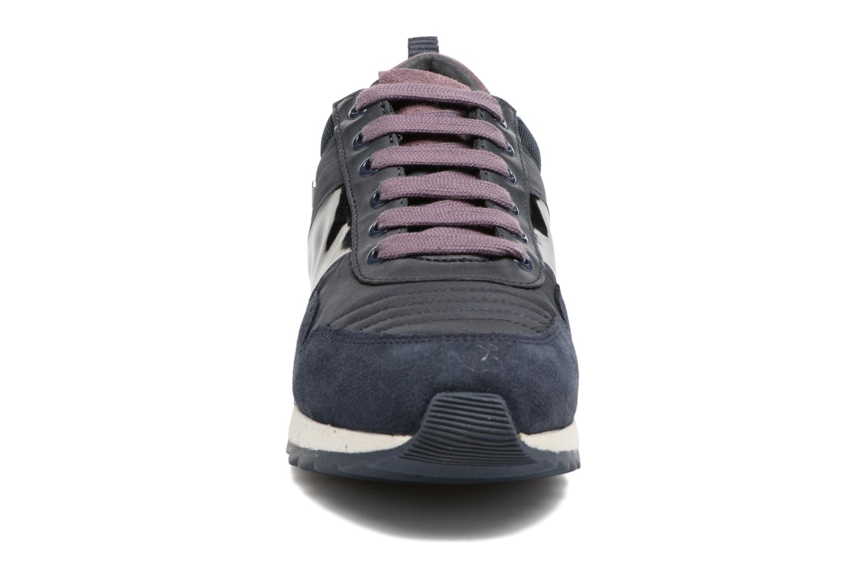 Baskets Geox D ANEKO B ABX A D643FA Bleu vue portées chaussures