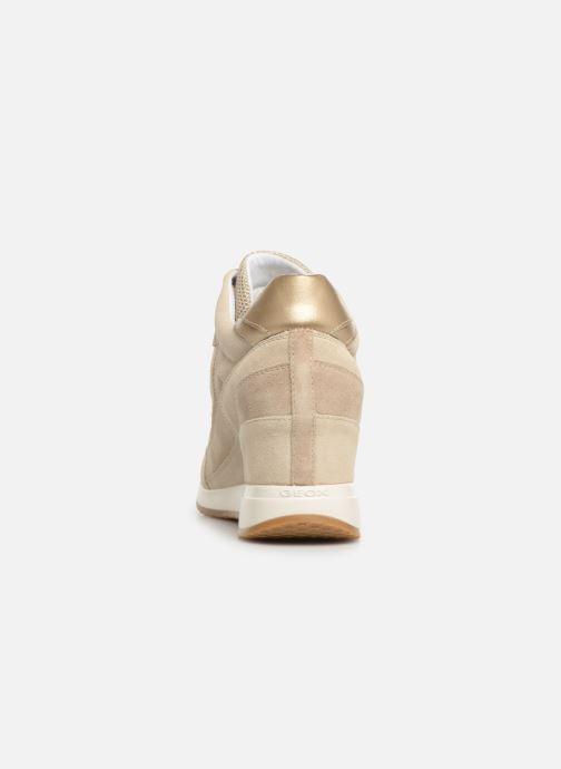 Sneakers Geox D NYDAME A D540QA Goud en brons rechts