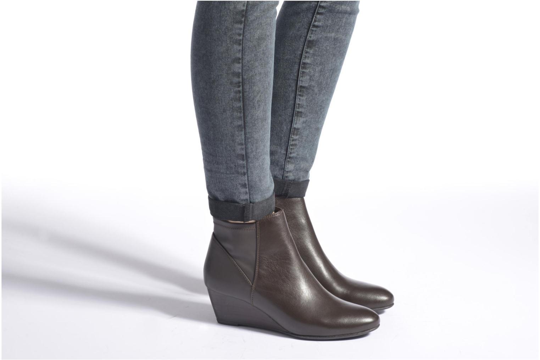 Bottines et boots Geox D VENERE A D64P8A Noir vue bas / vue portée sac
