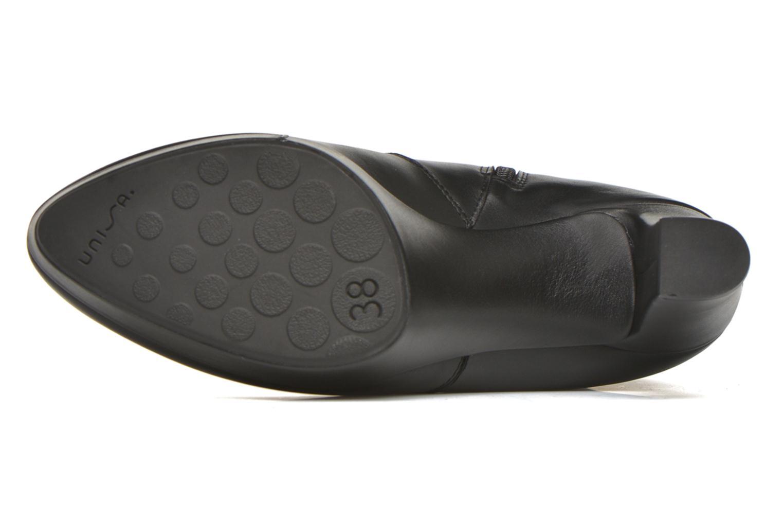 Bottines et boots Unisa Richar Noir vue haut