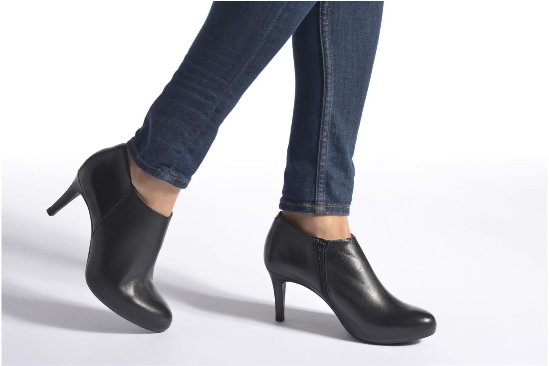 Bottines et boots Unisa Narbo Noir vue bas / vue portée sac