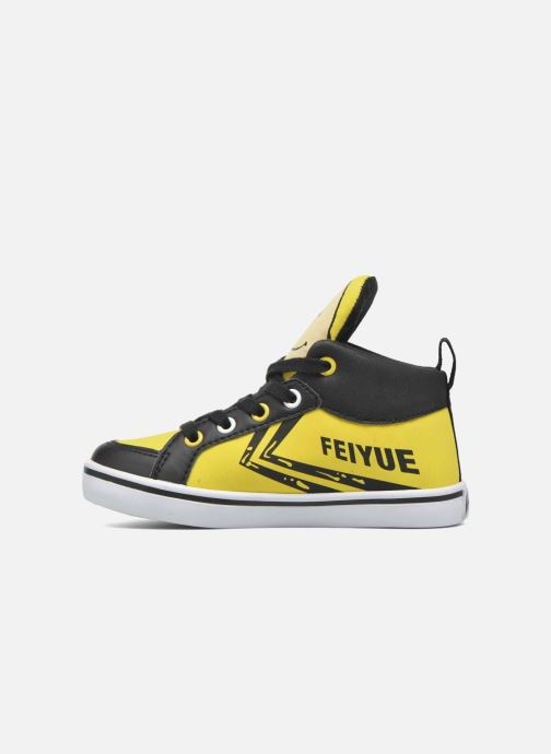 Trainers Feiyue Delta Mid Peanuts Yellow front view