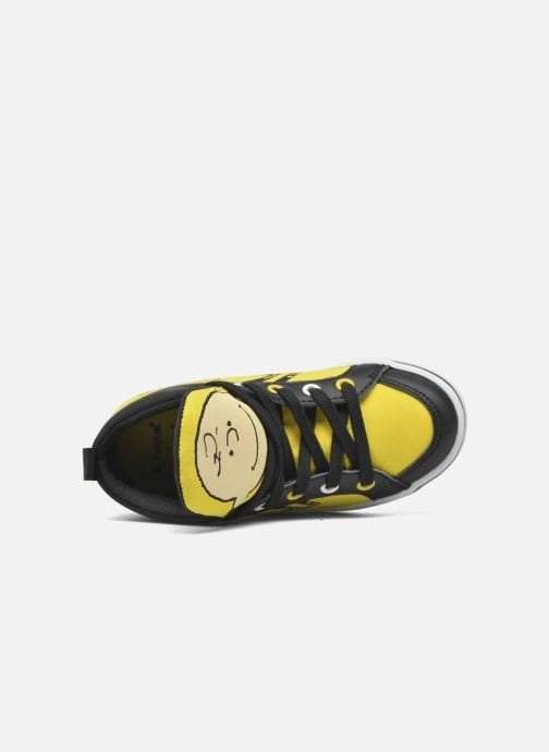 Trainers Feiyue Delta Mid Peanuts Yellow view from the left