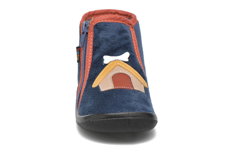 Chaussons Bopy Amilou Bleu vue portées chaussures