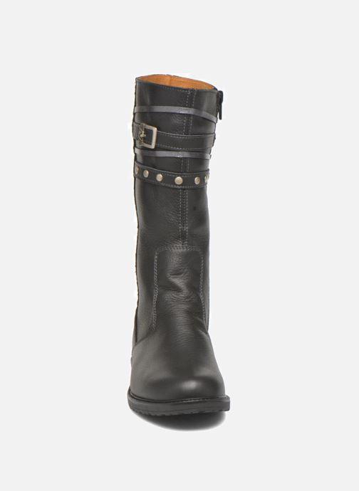 Bottes Bopy Slogan Noir vue portées chaussures