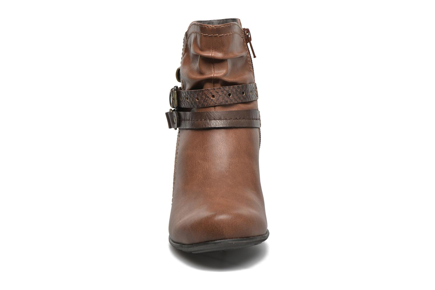 Ankle boots Jana shoes Cypres Brown model view
