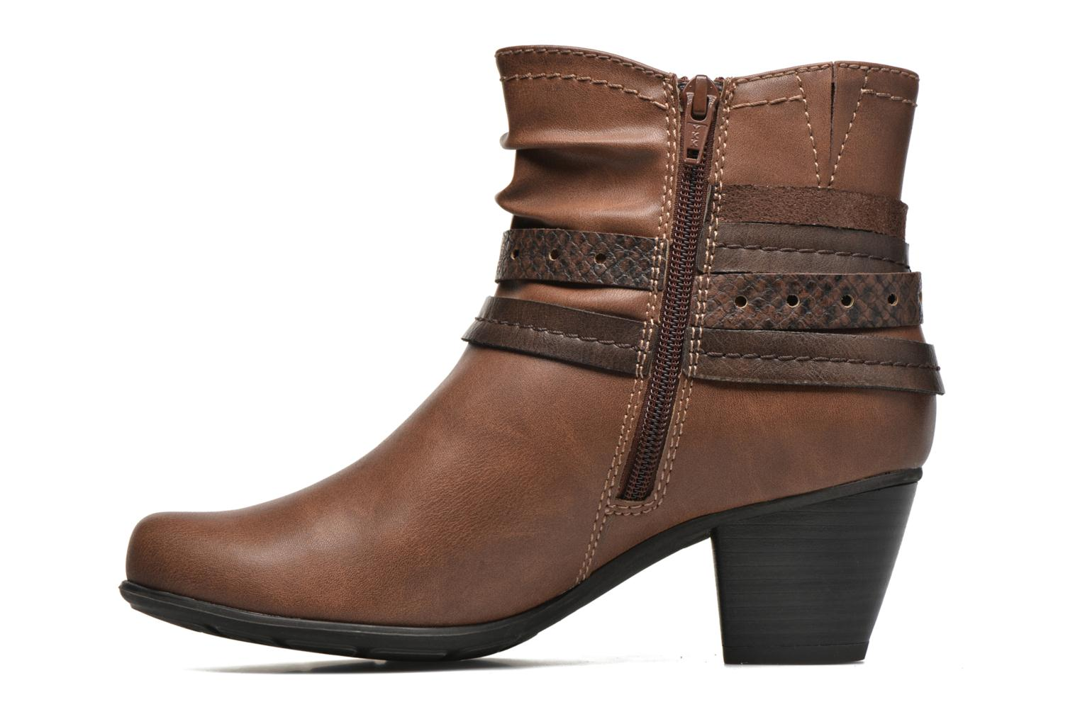 Ankle boots Jana shoes Cypres Brown front view
