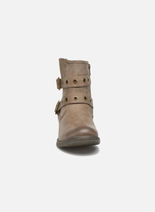 Ankle boots Jana shoes Monarde Beige model view