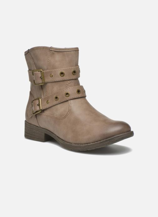 Ankle boots Jana shoes Monarde Beige detailed view/ Pair view