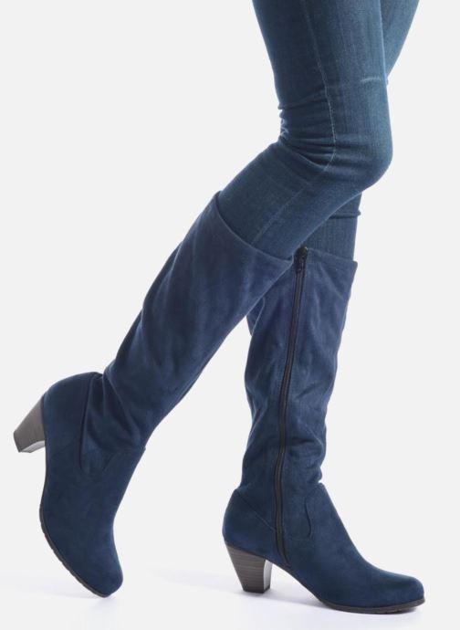 Bottes Jana shoes Lulu 2 Noir vue bas / vue portée sac