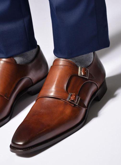 Zapato con hebilla Marvin&Co Luxe Witruck - Cousu Goodyear Marrón vista de abajo