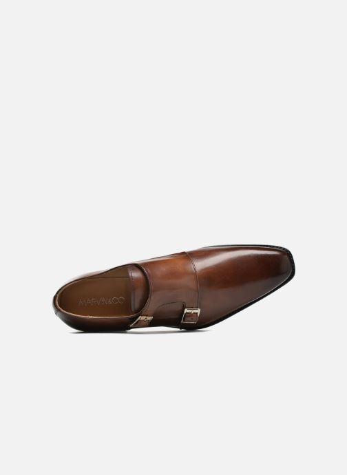 Zapato con hebilla Marvin&Co Luxe Witruck - Cousu Goodyear Marrón vista lateral izquierda