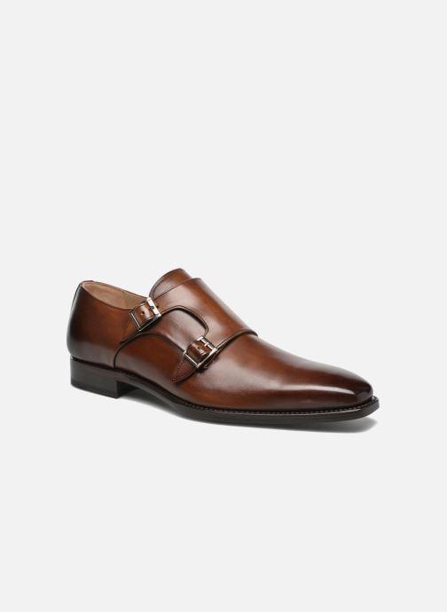 Zapato con hebilla Marvin&Co Luxe Witruck - Cousu Goodyear Marrón vista de detalle / par