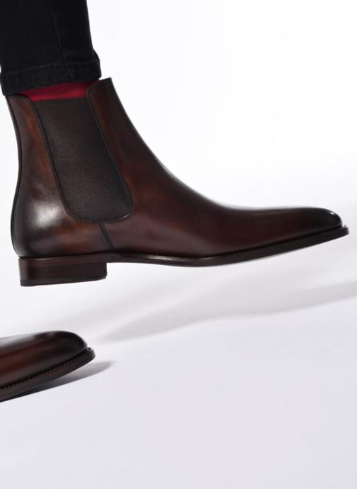 Ankle boots Marvin&Co Luxe WASPEN - Cousu Goodyear Brown view from underneath / model view
