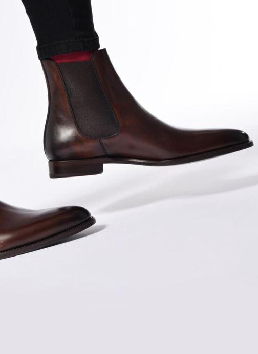 Bottines et boots Marvin&Co Luxe WASPEN - Cousu Goodyear Marron vue bas / vue portée sac
