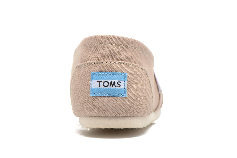Baskets TOMS Alpargata Beige vue droite