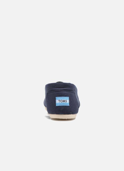 Espadrilles TOMS Core Classics Bleu vue droite