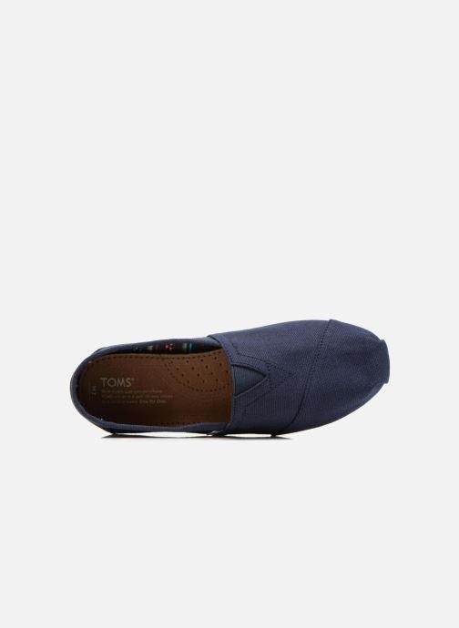 Espadrilles TOMS Core Classics Bleu vue gauche