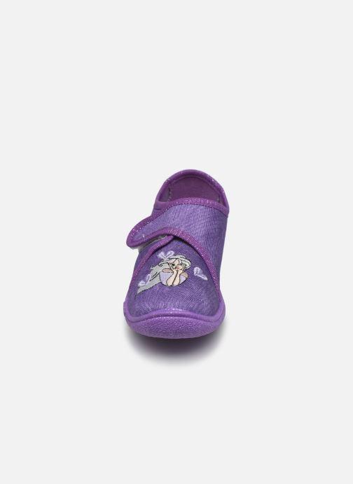 Hausschuhe Superfit Belinda lila schuhe getragen