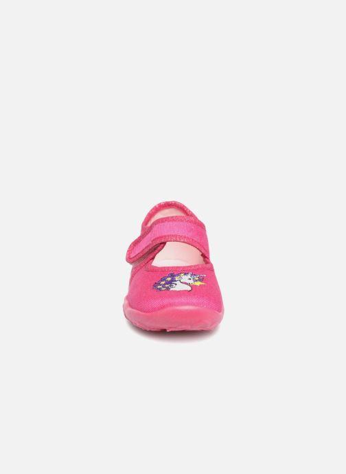 Pantofole Superfit Belinda2 Rosa modello indossato