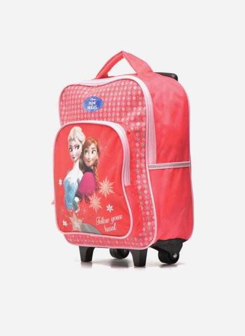 Skoletasker Disney FROZEN CORAL - BACKPACK TROLLEY Pink se skoene på
