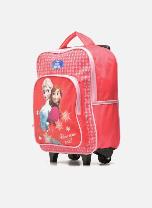 Scolaire Disney FROZEN CORAL - BACKPACK TROLLEY Rose vue portées chaussures
