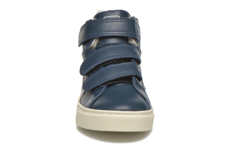 Baskets Veja Esplar Mid Velcro Fured Bleu vue portées chaussures