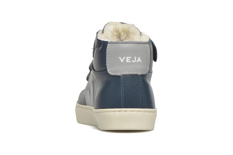 Baskets Veja Esplar Mid Velcro Fured Bleu vue droite