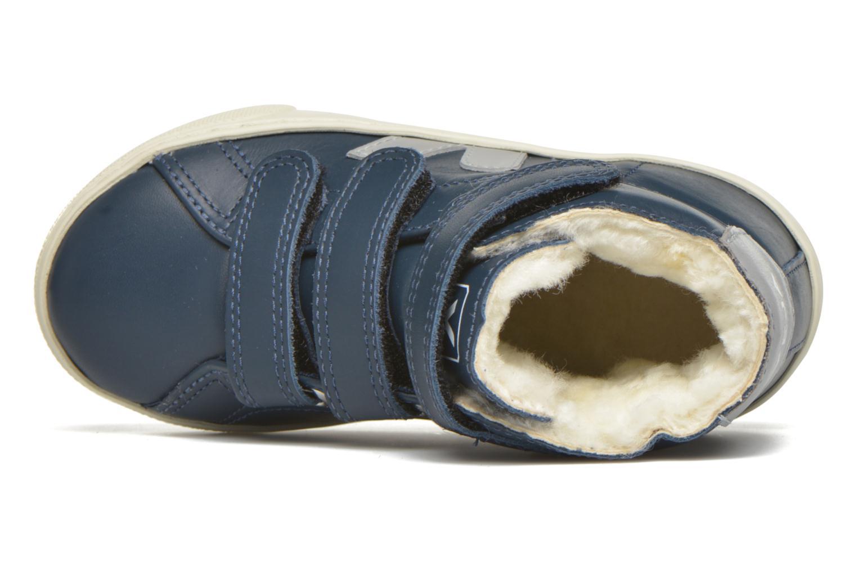 Baskets Veja Esplar Mid Velcro Fured Bleu vue gauche