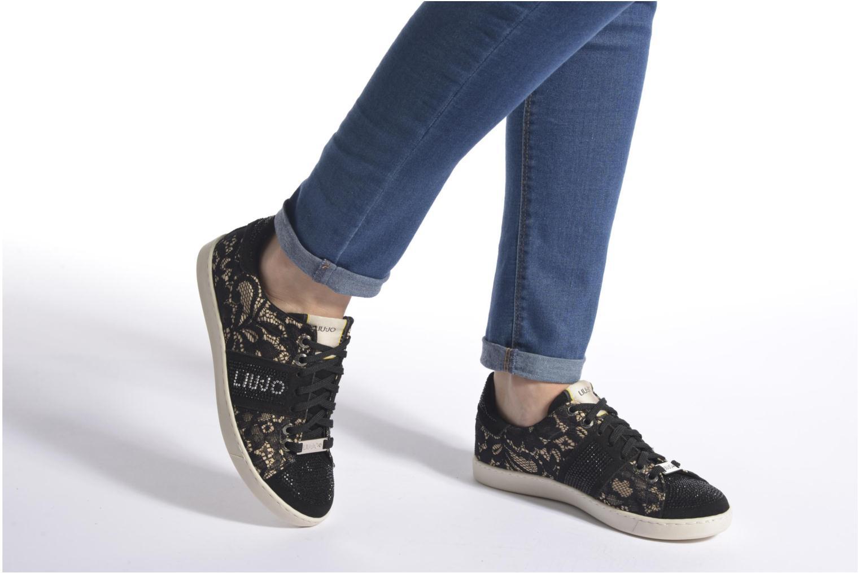 Baskets Liu Jo Sneaker Lacci mimi Noir vue bas / vue portée sac
