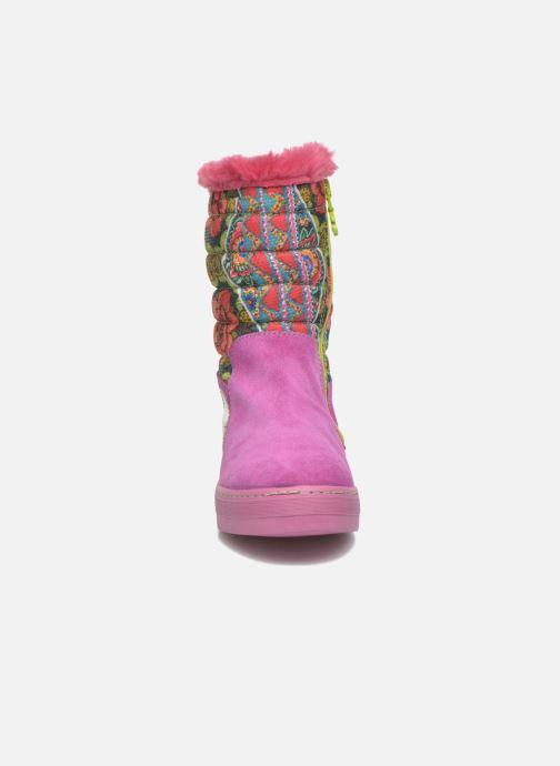 Bottes Desigual Winter Rose vue portées chaussures
