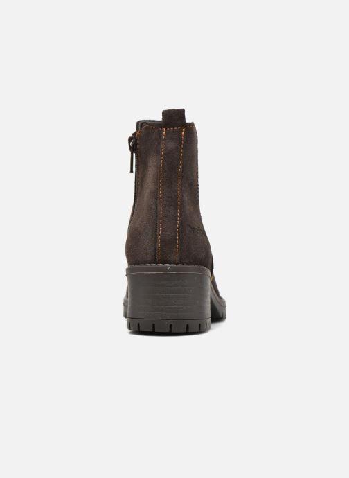 Bottines et boots Desigual Chelsea Marron vue droite
