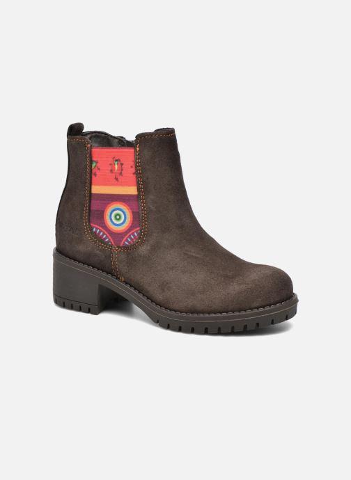Bottines et boots Desigual Chelsea Marron vue détail/paire