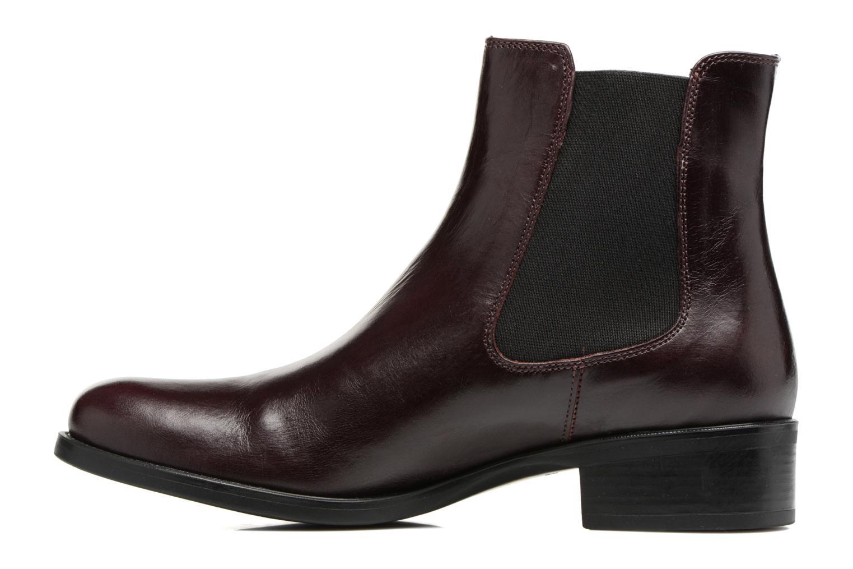 Bottines et boots Georgia Rose Abea Bordeaux vue face