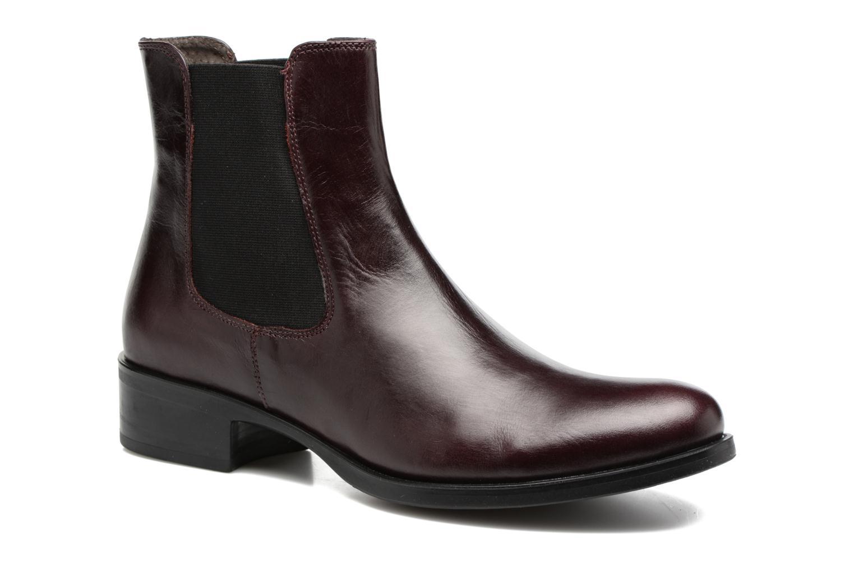 Bottines et boots Georgia Rose Abea Bordeaux vue détail/paire