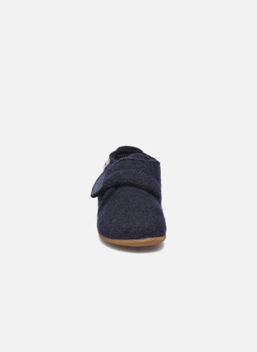 Chaussons Giesswein Oberstaufen Bleu vue portées chaussures