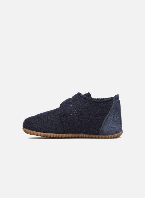 Pantofole Giesswein Oberstaufen Azzurro immagine frontale