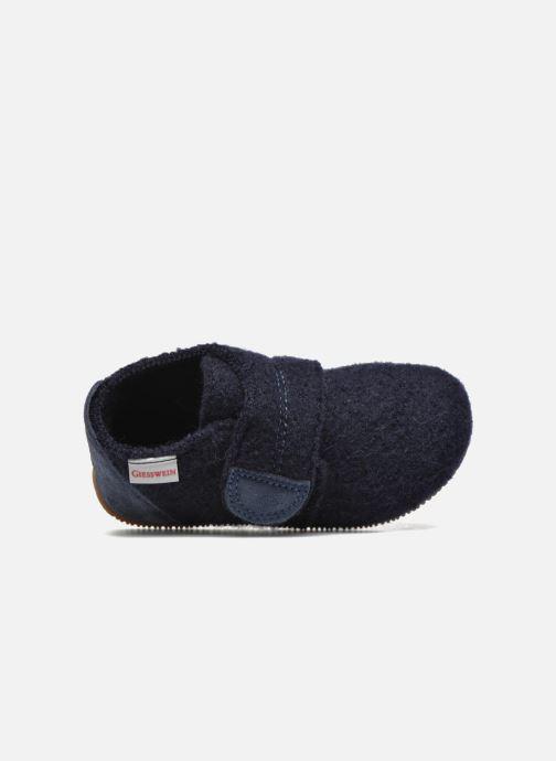 Pantofole Giesswein Oberstaufen Azzurro immagine sinistra