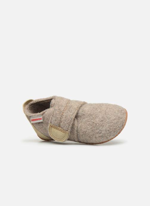 Pantofole Giesswein Oberstaufen Beige immagine sinistra