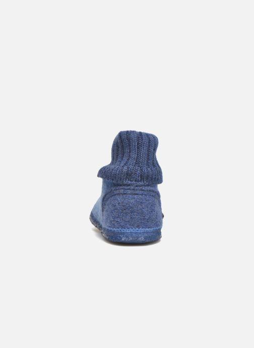 Chaussons Giesswein Kramsach2 Bleu vue droite